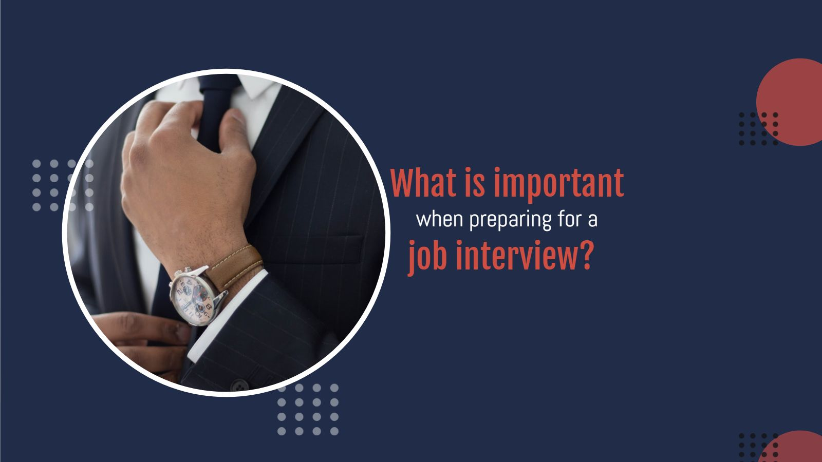 What is important when preparing for a job interview?